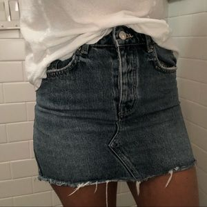 Zara mini denim skirt size XS